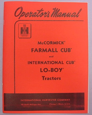 TM Tractor Parts for McCormick Farmall Cub, International Cub, and ...